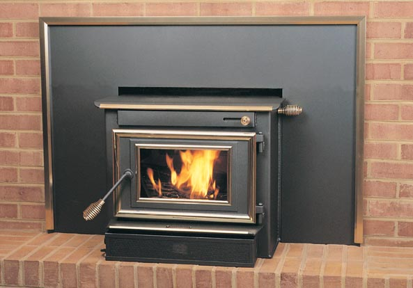 Englander Stove Ac 104 Brass Lip, Englander Wood Fireplace Inserts