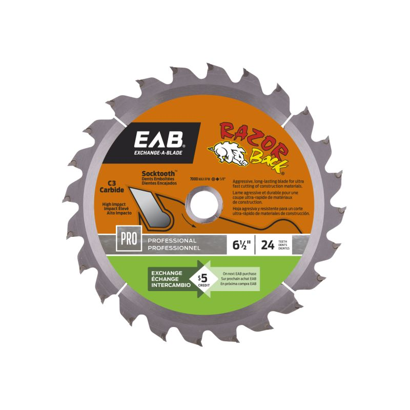 6-1/2-Inch Carbide Professional Saw Blade