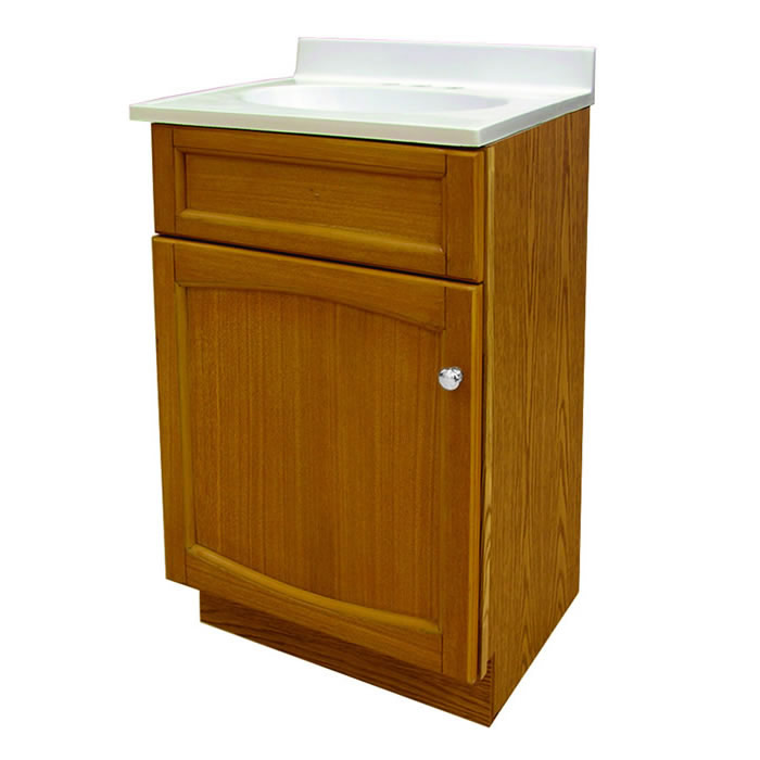 Foremost Groups Heo1816 18x16 Vanity And Top Combo Oak At Sutherlands