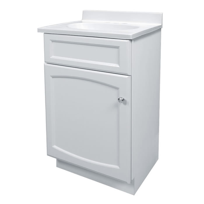 Foremost Groups Hew1816 18x16 White Vanity And Top Combo At Sutherlands