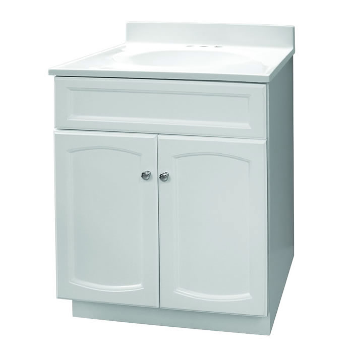 Foremost Groups Hew2418 24x18 White Vanity And Top Combo At Sutherlands