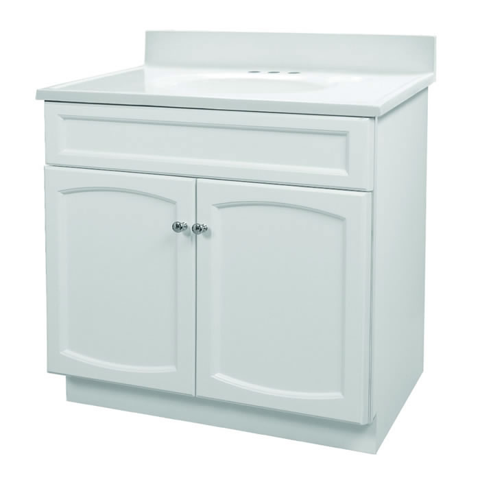 Foremost Groups Hew3018 30x18 White Vanity And Top Combo At Sutherlands