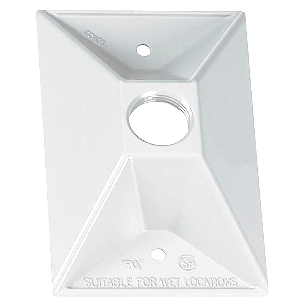 Sigma Electric 14371WH 1//2-Inch 1 Hole 1-Gang Rectangular Lamp Holder Cover White