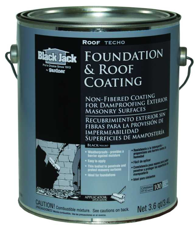 Bituminous Coating For Foundations : Gardner gibson  black jack roof foundation