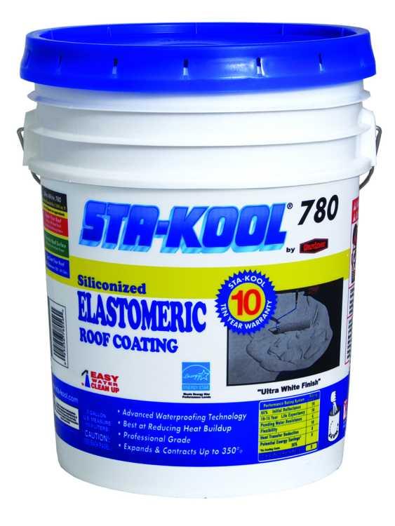Gardner Gibson Sk7805 Sta Kool 780 10yr Elastomeric White