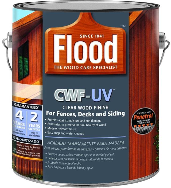 Flood Ppg Fld442 Cwf Clear Natural Exterior Wood Stain Voc: PPG Flood FLD542-01 1-Gallon Clear Cwf-Uv Wood Finish At