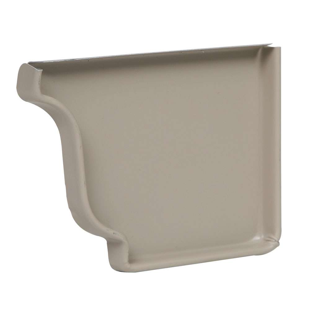 Amerimax 25006079 5 Inch Natural Clay Right Hand End Cap