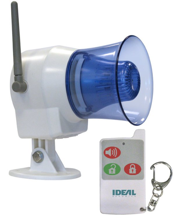 Alarm Siren W/Bright Flashing Light
