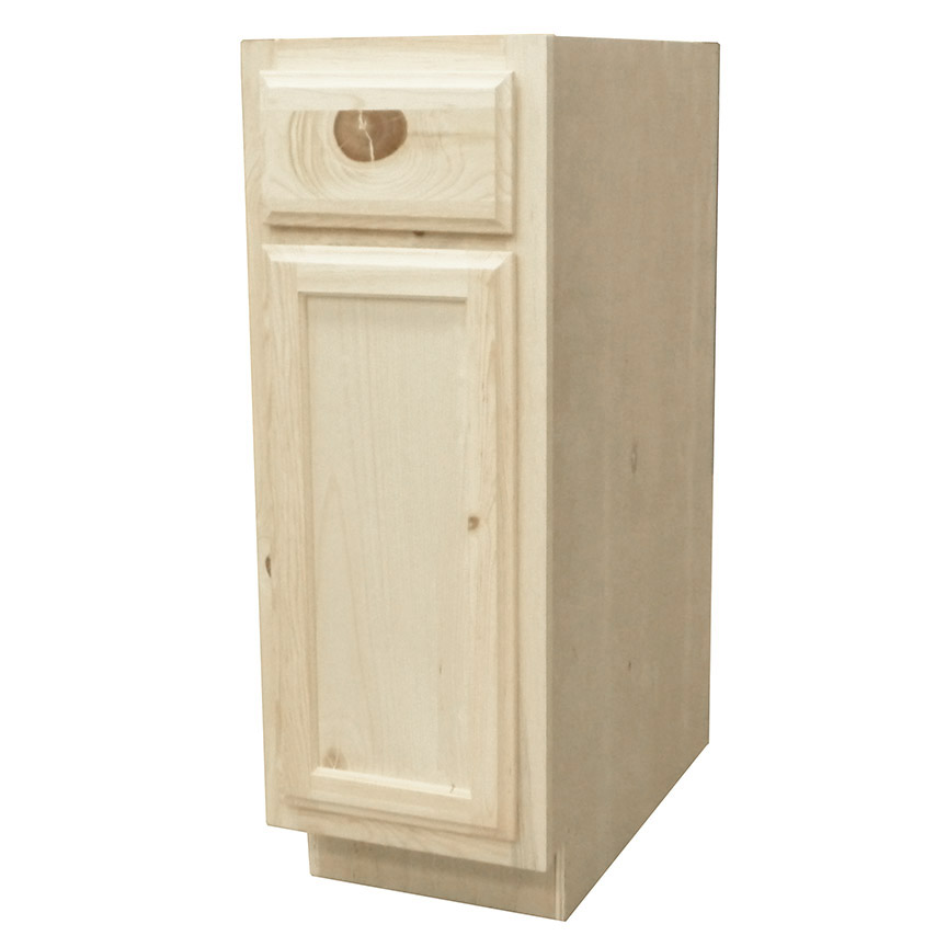 Knotty Pine Cabinets: KAPAL WOOD PRODUCTS B12-PFP 12 In Unfinished Knotty Pine