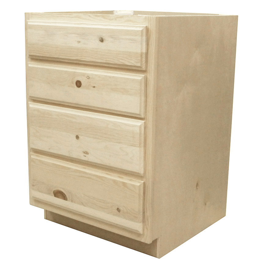 Knotty Pine Kitchen Cabinets For Sale: Kapal Wood Products DB24-PFP 24 In Unfinished Knotty Pine