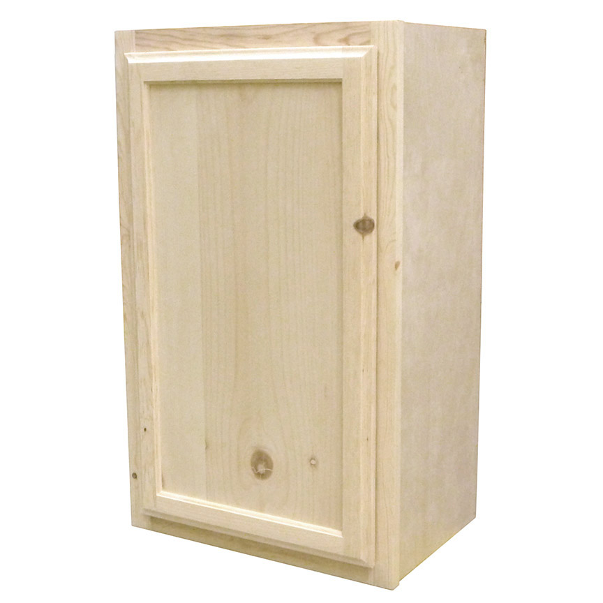 Knotty Pine Cupboards: Kapal Wood Products W1830-PFP 18 In X 30 In Unfinished