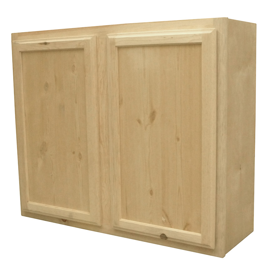 Knotty Pine Cupboards: Kapal Wood Products W3630-PFP 36 In X 30 In Unfinished