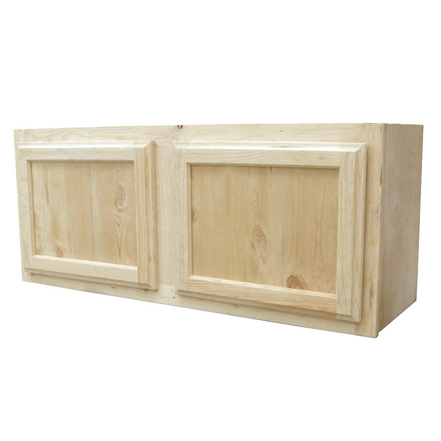 Knotty Pine Cabinets: Kapal Wood Products W3615-PFP 36 In X 15 In Unfinished
