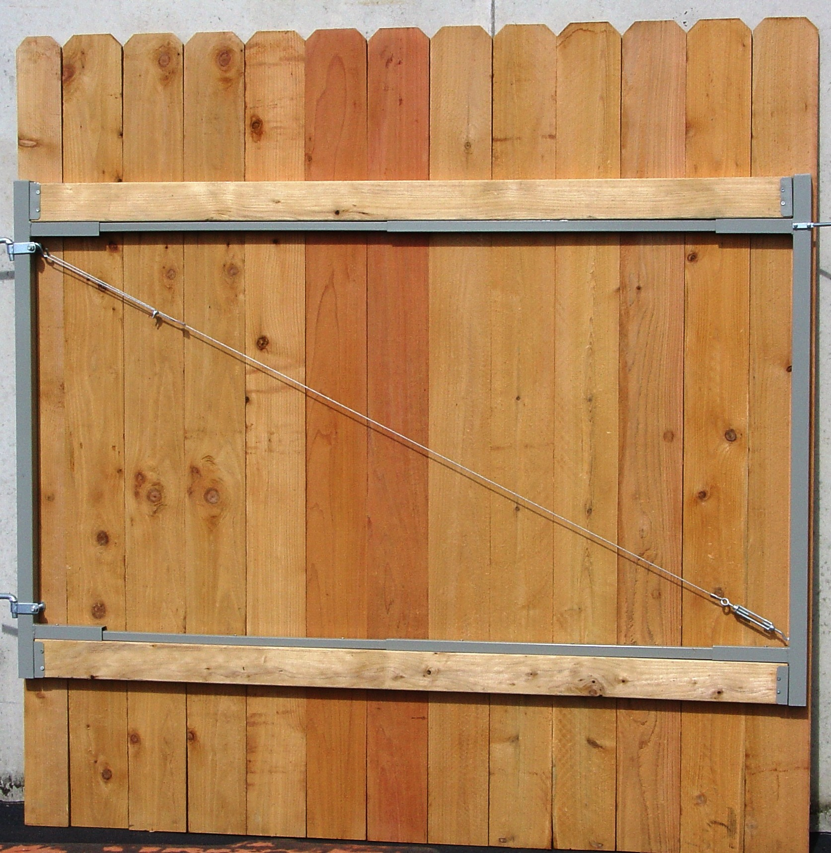 How To Build A Wood Gate With Metal Frame