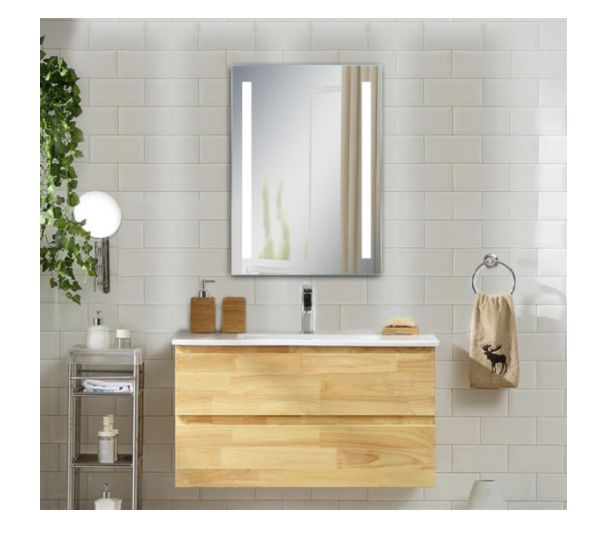 Ltl Home Products Inc Li8332 19 11 16 X 27 9 16 X 1 3 16 Inch Maxx Frameless Led Lighted Vanity Mirror At Sutherlands