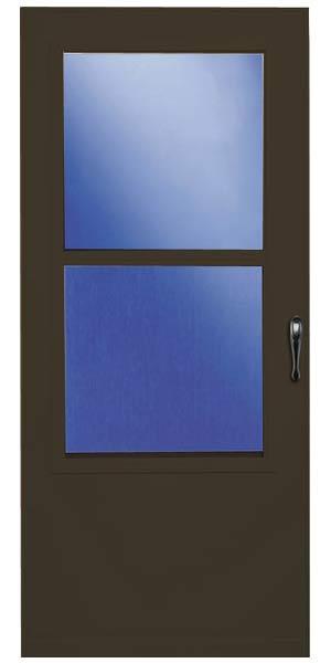 Larson 028842u Larson Value Core 028842u Storm Door Single Ventilation 1 Closer Wood Brown