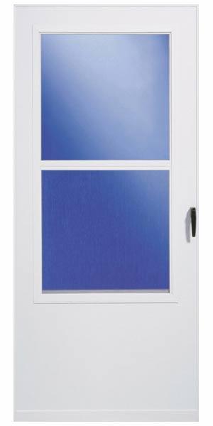 Larson doors 029831u ss 32 in vinyl clad storm door at for Vinyl storm doors