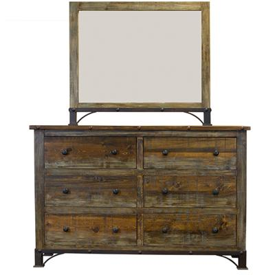 Lmt Imports Acc805 Urban Rustic Mirror For Dresser At