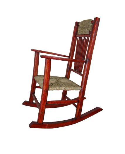Phenomenal Red Rocking Chair With Wicker Seat Machost Co Dining Chair Design Ideas Machostcouk