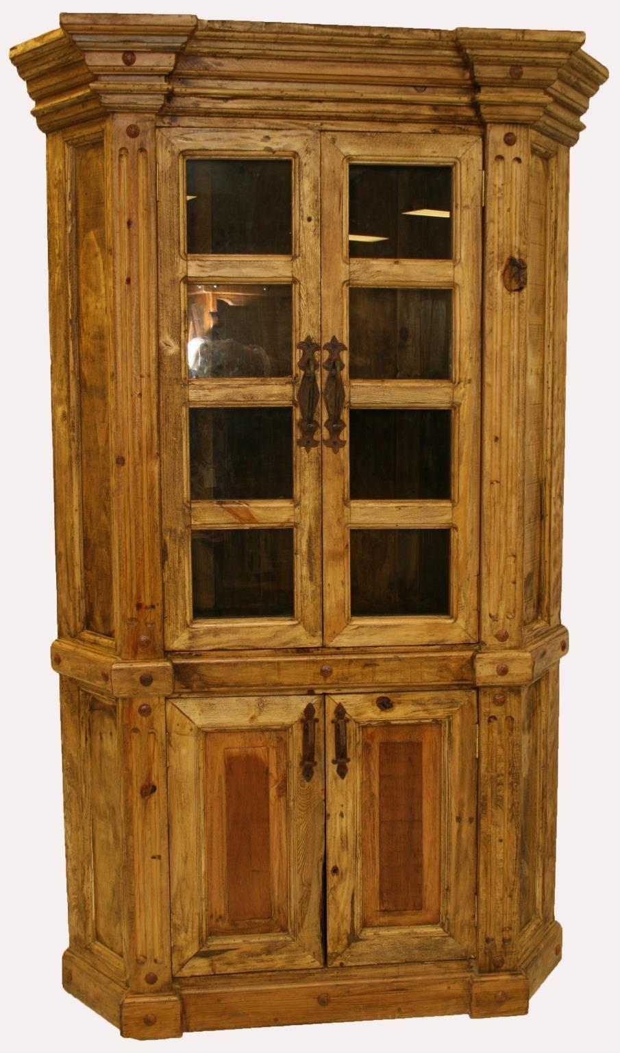 LMT Imports ZPICO-113 Corner Curio Display Cabinet at ...