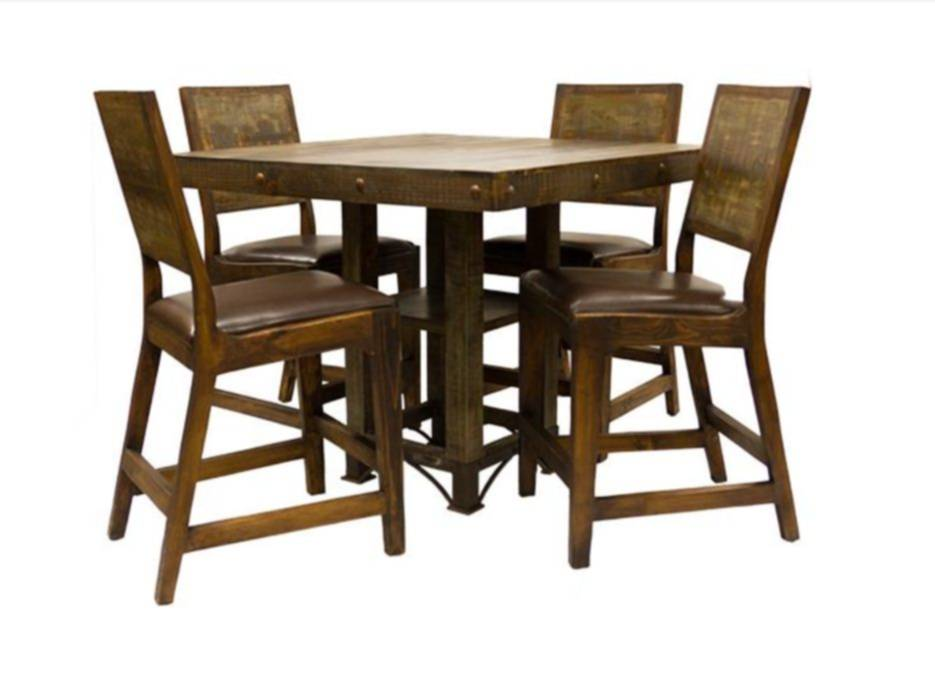 42 Inch Urban Rustic Dining Table