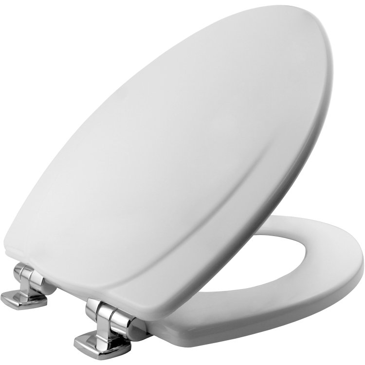 Mayfair Bemis 130CHSL Elongated Molded Wood Toilet Seat White At Sutherlands