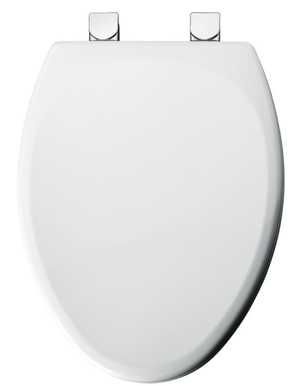 Sensational Elongated Molded Wood Toilet Seat White Pabps2019 Chair Design Images Pabps2019Com