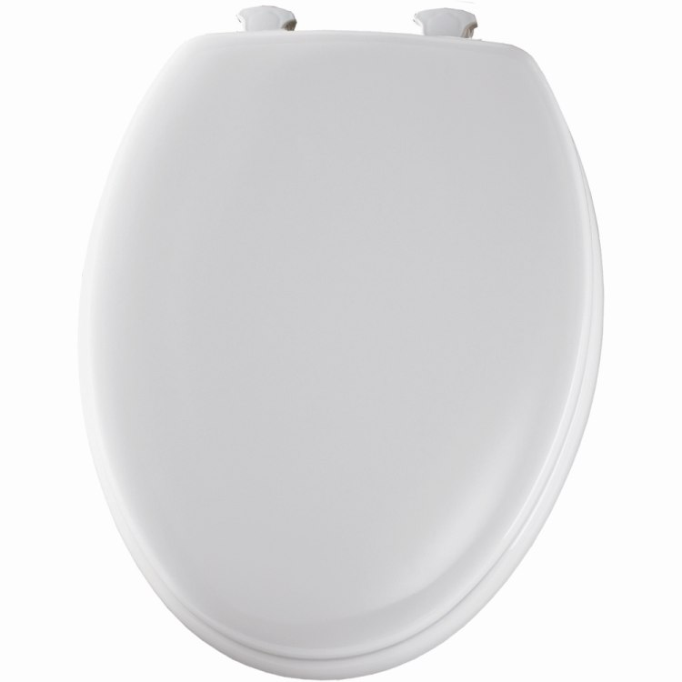 Mayfair Bemis 144EC 000 Elongated Molded Wood Toilet Seat White At Sutherlands
