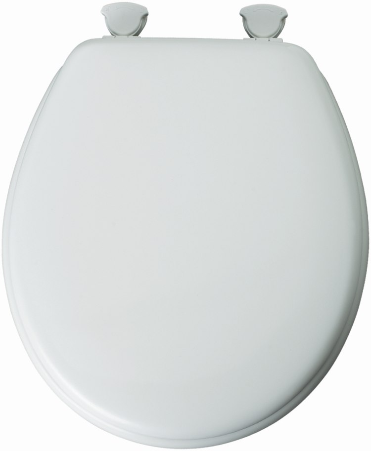 Mayfair Bemis 44ECA 000 Round Molded Wood Toilet Seat White At Sutherlands