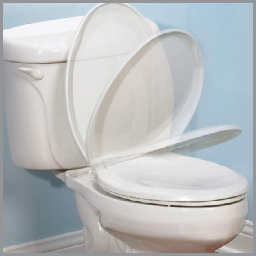 Mayfair Bemis 30CHSL 000 Round Molded Wood Toilet Seat With Whisper Close Chr