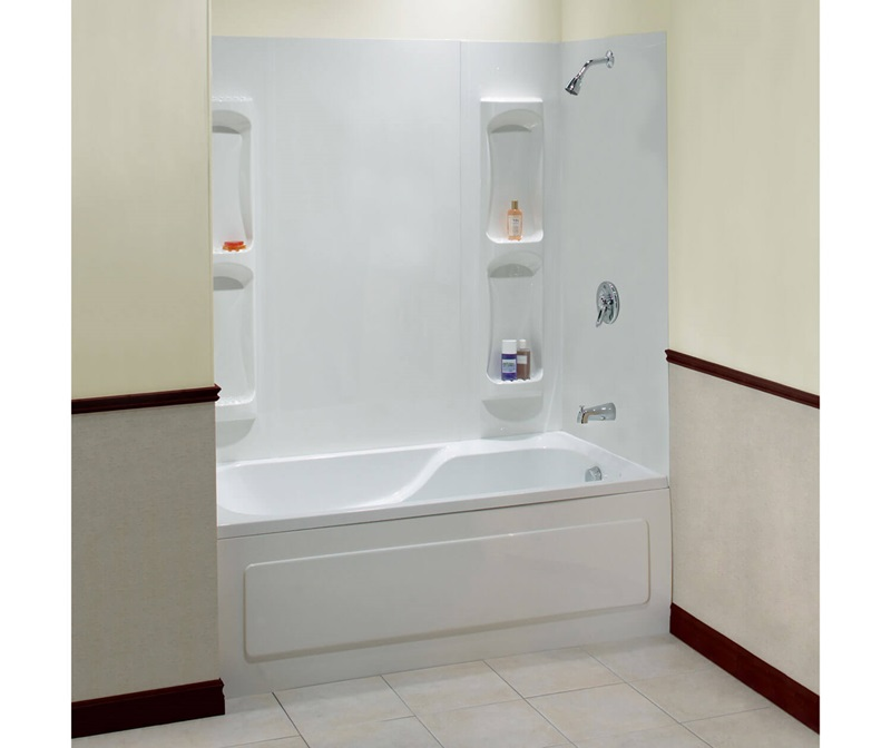 Maax Inc 102573-000-129-000 32-Inch X 59-Inch 5-Piece White Utah Tub ...