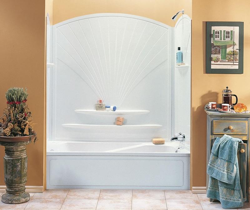 Maax Inc 101592-000-129-000 30-Inch X 63-Inch 5-Piece White Decora ...
