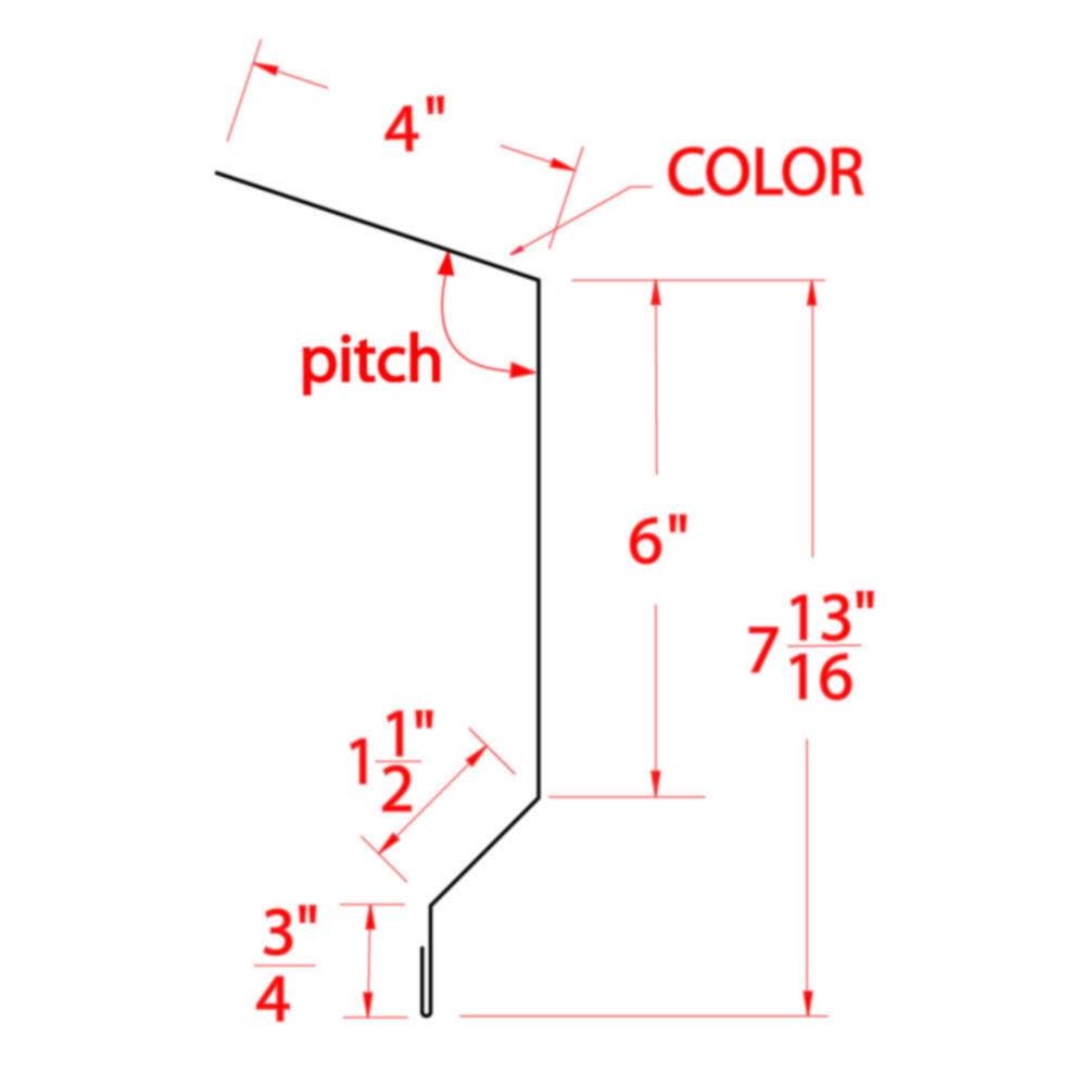 Metal Building Supply Fascia 10 Foot X 3 Inch Painted