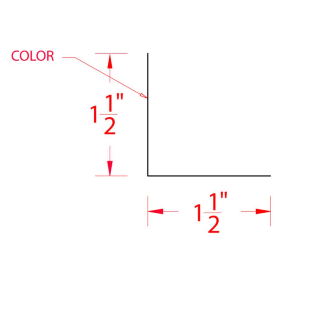 Metal Building Supply Angle 1 5 X 1 5 Inch White Lo Rib
