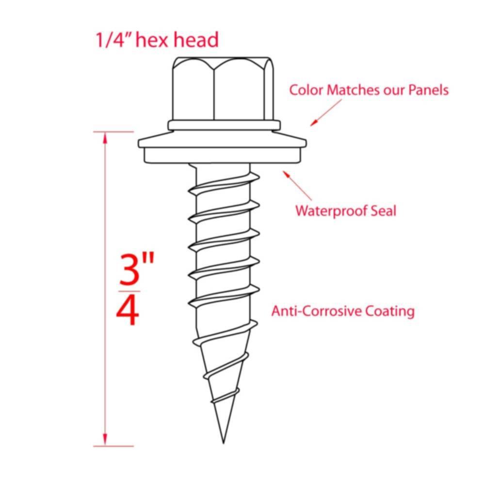 Metal Building Supply Mtw3 4bl 3 4 Inch Blue Stitch Screws