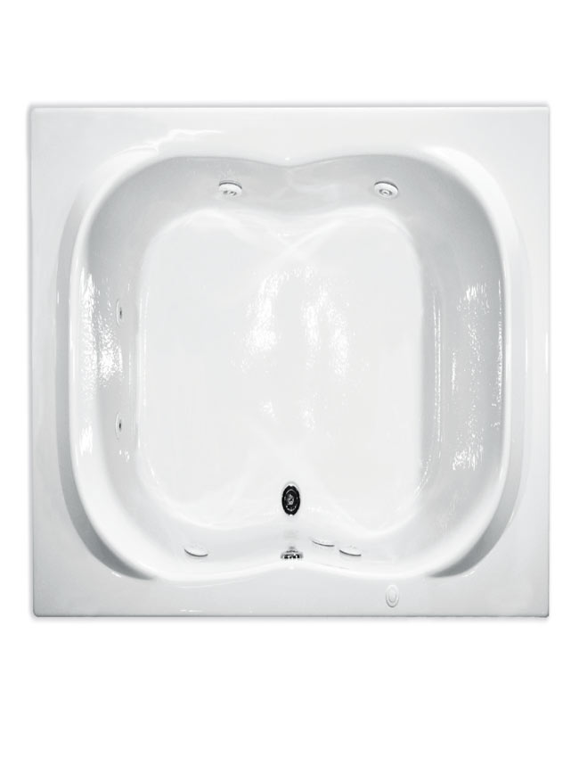 AMERICAN WHIRLPOOL AWP7242WH Whirlpool Tub 72x42 White 6 Jets at ...