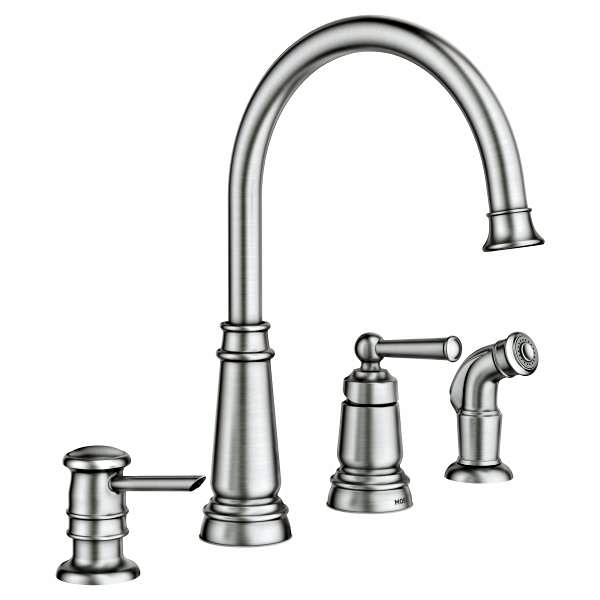 Edison Spot Resist Stainless One Handle High Arc Kitchen Faucet