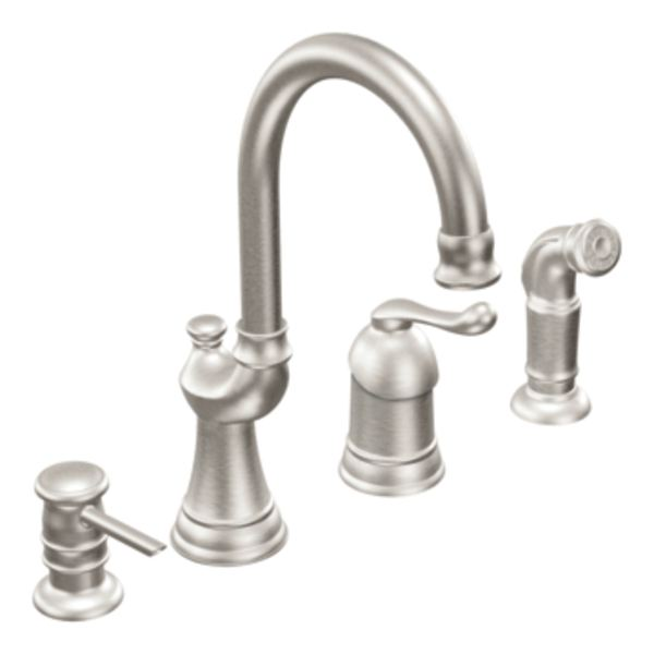 moen muirfield kitchen faucet moen ca87002csl muirfield classic stainless one handle 20864