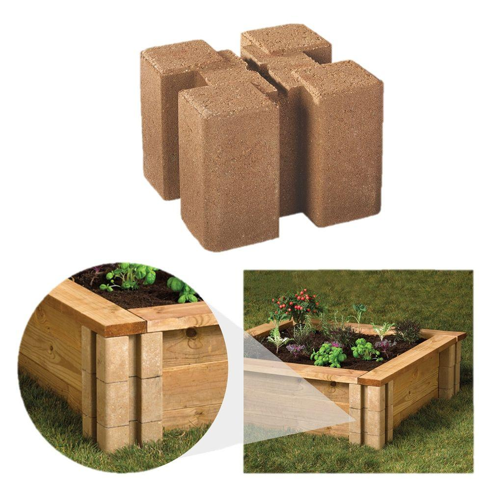 Block Garden: Oldcastle 16202336 8-Inch X 8-Inch Brown Wall Planter