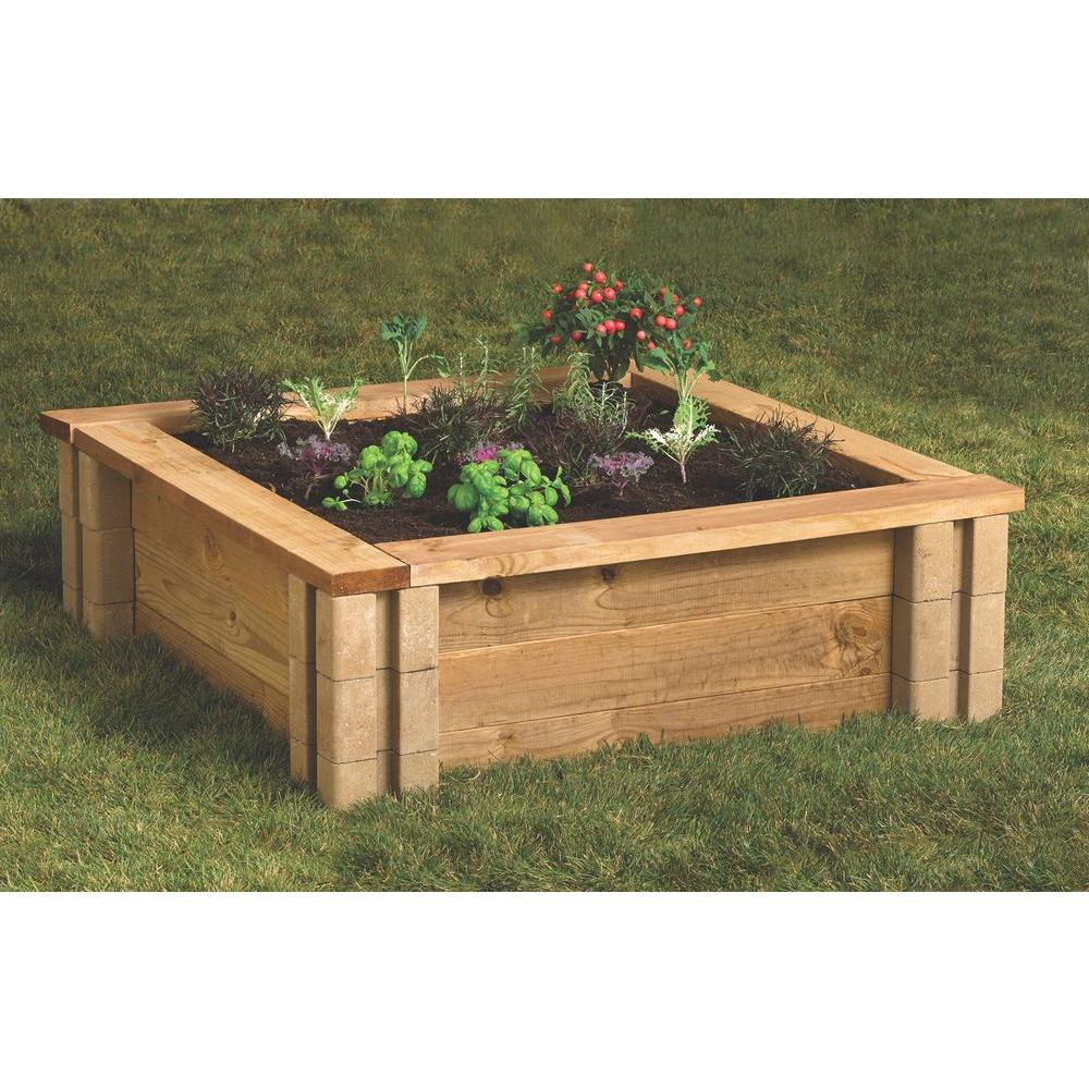Oldcastle 16202336 8-Inch X 8-Inch Brown Wall Planter Block at ...