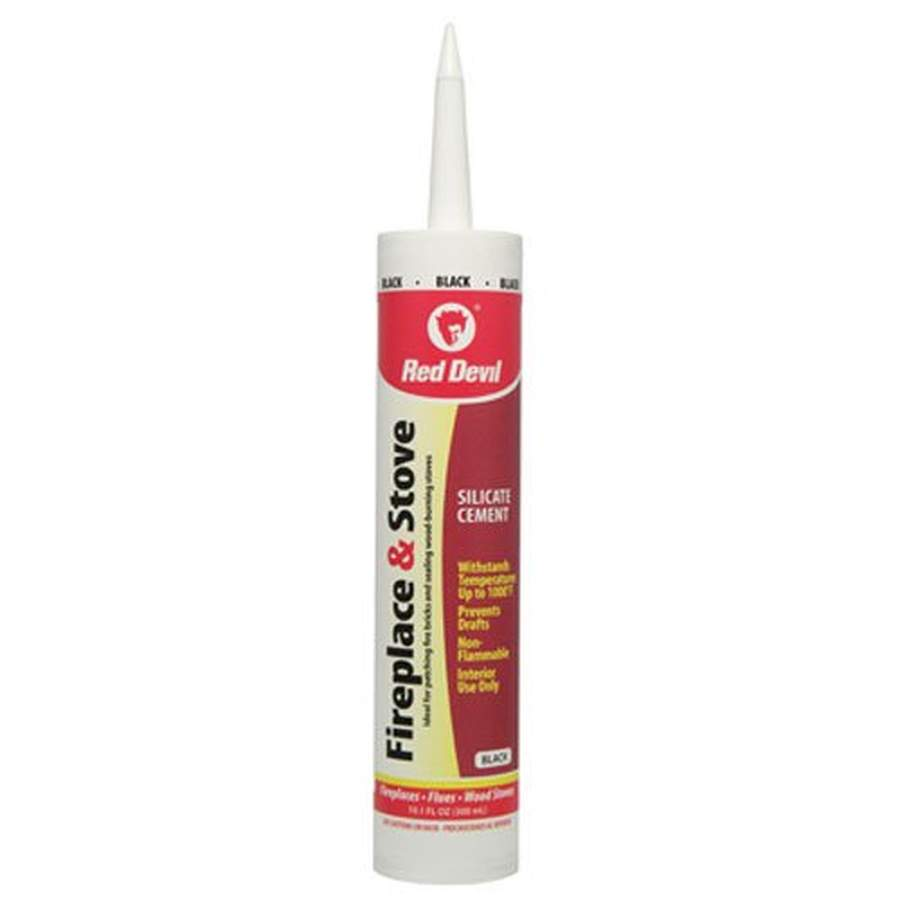 Red Devil 0466 Fireplace And Stove Repair Sealant 10 1 Fl