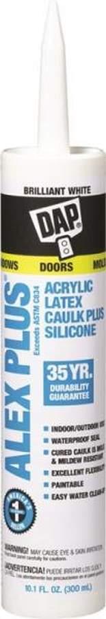 Alex Plus All-Purpose Caulk Plus Silicone 10 1 fl  oz  Black