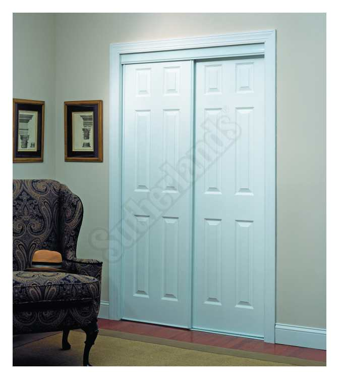 Home Decor Innovations 24-0011 6 Panel By-Pass Door 106