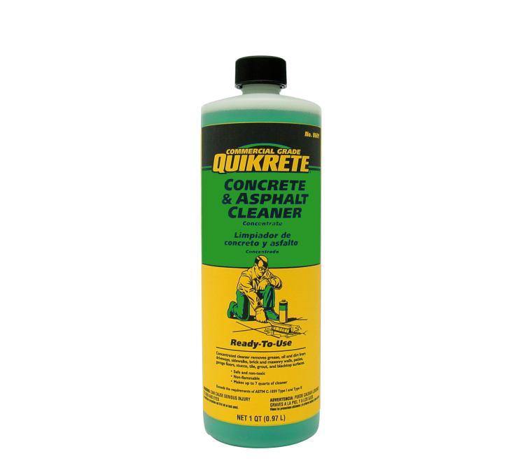 Quikrete 8601 14 Concrete Amp Asphalt Cleaner Concentrate Qt