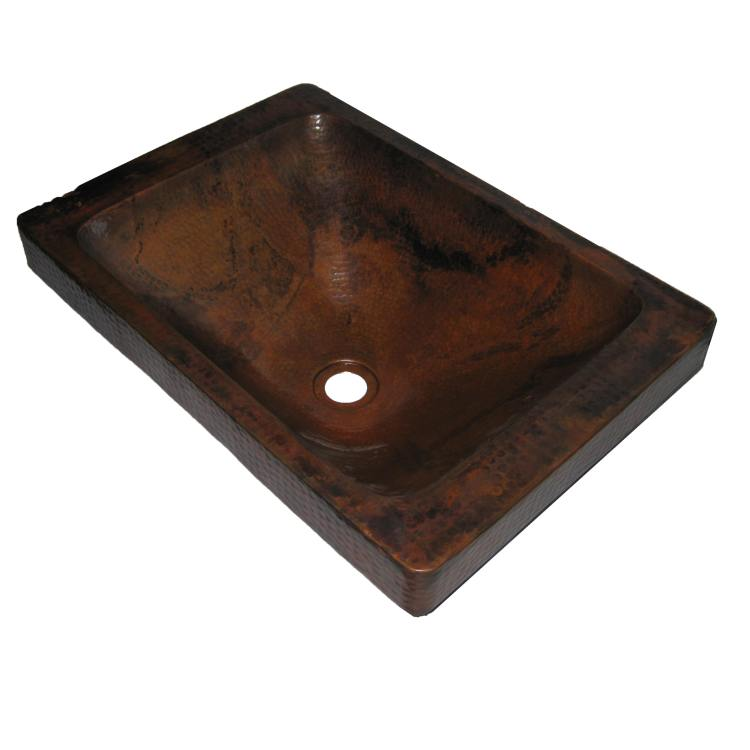Surface Mount Sink : ... Rectangle Surface Mount Copper Sink With Natural 20 In at Sutherlands