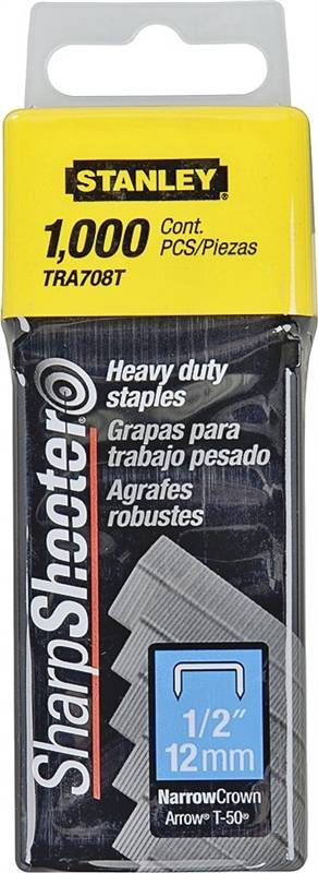Stanley Tra708t 1 2 Inch Narrow Heavy Duty Crown Staple At