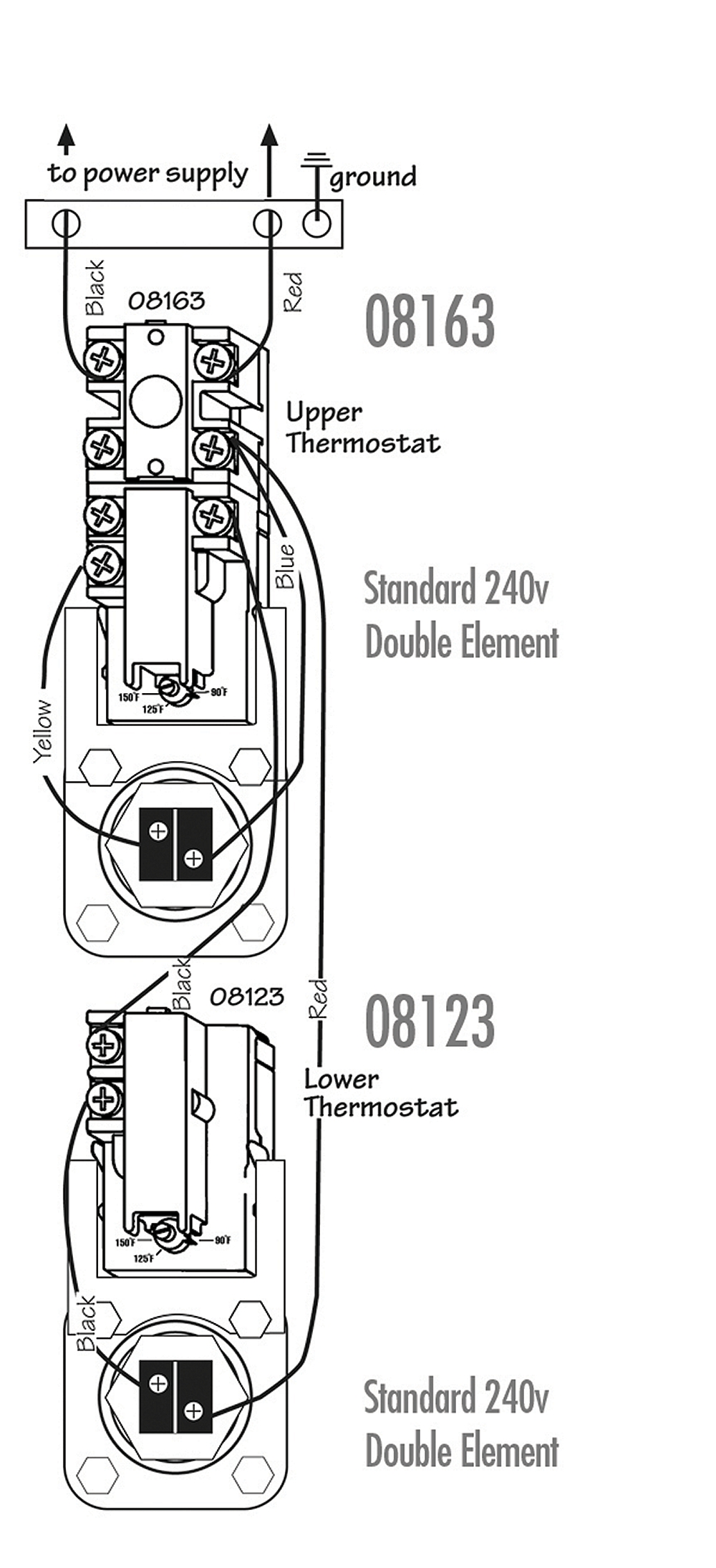 ao smith water heater upper thermostat