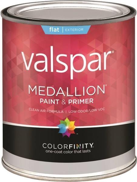 Valspar 45508 Medallion Exterior Flat Pastel Base Paint Primer Quart At Sutherlands
