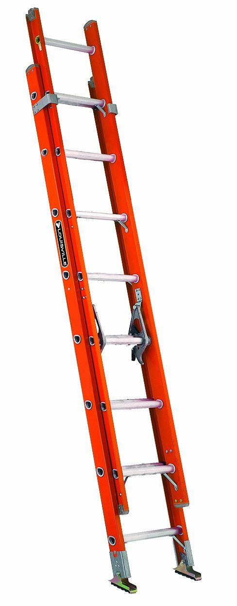 16 ft Type IA Fiberglass Extension Ladder, 300 lb Rated