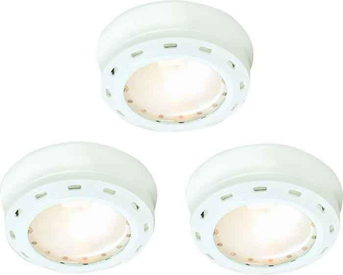 3 Light White Xenon Puck Kit